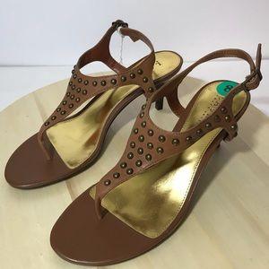 Lauren Ralph Lauren Womens Flip Flop Heel Sandal 8